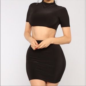 Fashion Nova 2 piece skirt set